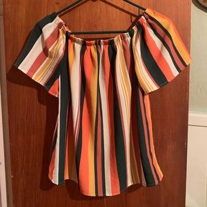 Charlotte Russe striped top sz M